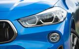 BMW X2 M35i 2019 road test review - headlights