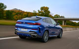 BMW X6 M50i 2019 road test review - hero rear