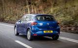 3 dacia sandero tce 90 2021 uk first drive review hero rear