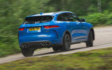 Jaguar F-Pace SVR 2019 road test review - hero rear