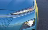 Hyundai Kona Electric 2018 road test review - headlights
