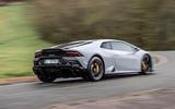 Lamborghini Huracan EVO RWD 2020 road test review - hero rear