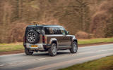 Land Rover Defender 2020 road test review - hero rear