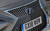Lexus LS500h 2018 road test review front grille