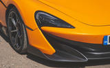 McLaren 600LT Spider 2019 road test review - headlights