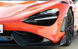 McLaren 765LT 2020 road test review - headlights