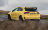 Mercedes-AMG A45 S 4Matic+ 2020 road test review - hero rear