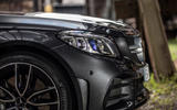 Mercedes-AMG C43 Coupe 2018 road test review headlights