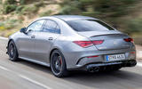 Mercedes-AMG CLA 45 S 2019 road test review - hero rear