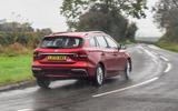 MG 5 SW EV 2020 Road test review - hero rear