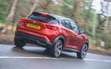 Nissan Juke 2020 road test review - hero rear