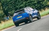 Peugeot e-2008 2020 road test review - hero rear