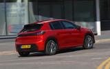 Peugeot e-208 2020 road test review - hero rear