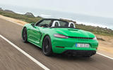 Porsche 718 Boxster GTS 4.0 2020 road test review - hero rear