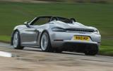 Porsche 718 Spyder 2020 road test review - hero rear