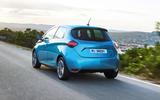Renault Zoe 2020 road test review - hero rear