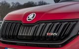 Skoda Kodiaq vRS 2019 road test review - nose