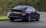 3 Skoda Octavia vRS TDI 2021 road test review hero rear