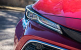 Toyota Corolla hybrid hatchback 2019 road test review - headlights