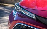Toyota Corolla hybrid hatchback 2019 road test review - headlights