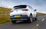Vauxhall Grandland X Hybrid4 2020 road test review - hero rear