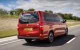 Vauxhall Vivaro Life 2019 road test review - hero rear