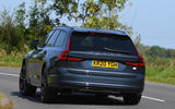 Volvo V90 T6 Recharge PHEV 2020 road test review - hero rear