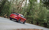 Alfa Romeo Stelvio Quadrifoglio 2019 road test review - cornering rear