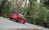 Alfa Romeo Stelvio Quadrifoglio 2019 road test review - cornering rear