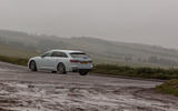 Audi A6 Avant 2018 road test review - cornering rear