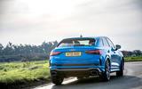 Audi RS Q3 Sportback 2020 road test review - cornering rear