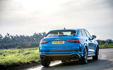 Audi RS Q3 Sportback 2020 road test review - cornering rear