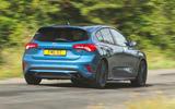 Ford Focus ST 2019 road test - cornering rear
