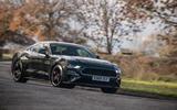 Ford Mustang Bullitt 2018 road test review - cornering front