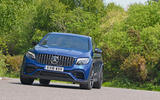 Mercedes-AMG GLC 63 S road test review cornering front