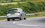 Skoda Scala 2019 road test review - cornering rear