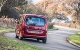 Vauxhall Combo Life 2018 road test review - cornering rear