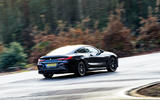 BMW 8 Series Coupé 2019 road test review - cornering rear