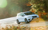 Cupra Ateca 2019 road test review - cornering front