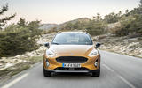 Ford Fiesta Active 2018 road test review on the road front