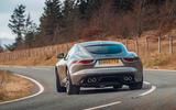 Jaguar F-Type 2020 road test review - cornering rear