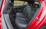 Kia Stinger GT line 2018 review rear seats
