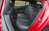 Kia Stinger GT line 2018 review rear seats