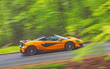McLaren 600LT Spider 2019 road test review - on the road side