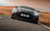 Aston Martin DBS Superleggera 2018 road test review - on the road nose