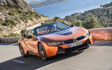 BMW i8 Roadster 2018 review on the road front