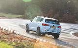 Cupra Ateca 2019 road test review - cornering rear