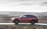 Alfa Romeo Stelvio Quadrifoglio 2019 road test review - on the road left