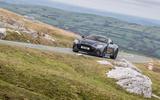Aston Martin DBS Superleggera 2018 road test review - cornering front