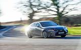 Lexus ES 2019 road test review - cornering front